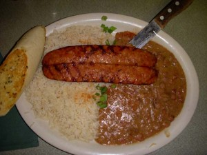 Andouille Sausage with Red Beans and Rice